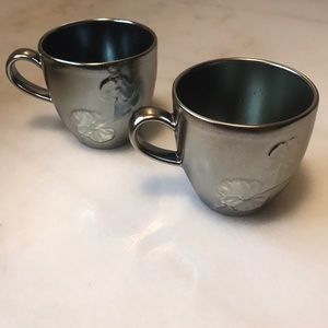 Michael Aram black orchid mugs - set of two